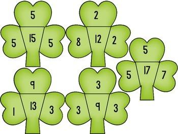 Shamrock Math Puzzles