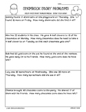 Shamrock Math Story Problems--2-Digit Addition and Subtraction Worksheet