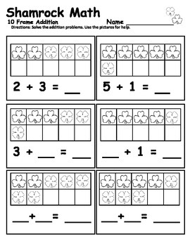 Ten Frame  - Shamrock Math Ten Frame Practice