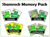 Shamrock Memory Pack - Antonyms, Synonyms, Homophones, and