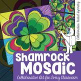 *Shamrock Mosaic - Interactive Coloring Sheets - St. Patrick's Day Art Lesson