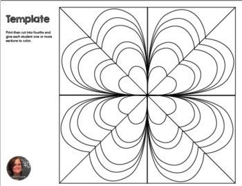 Shamrock Mosaic Interactive Coloring Sheets St