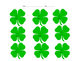 Shamrock Multiplication 12's Game