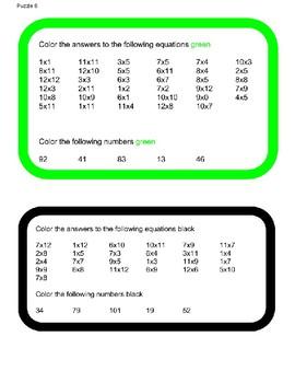 Shamrock Multiplication Puzzle