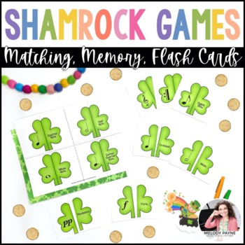 Shamrock Music Puzzles {Color & Ink-Friendly, American & International Terms!}