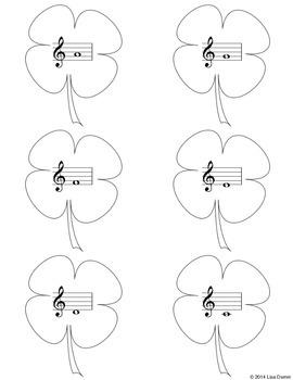 St. Patrick's Day Shamrock Music Note Hunt