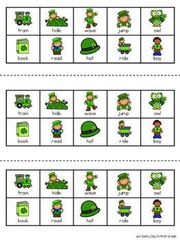 Shamrock Nouns & Verbs {craft or center!}