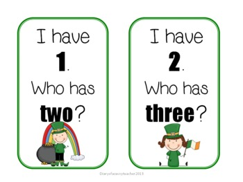 Shamrock Number Maddness for Kindergarten