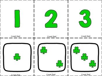 Shamrock Number Matching 1-10