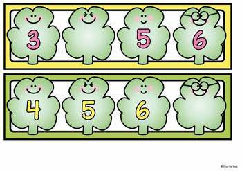 Shamrock Number Order - Math Center Activity Cards