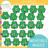 Shamrock Number Tiles Clip Art {MOVEABLE IMAGES}
