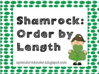 St Patricks Day: Shamrock Order by Length