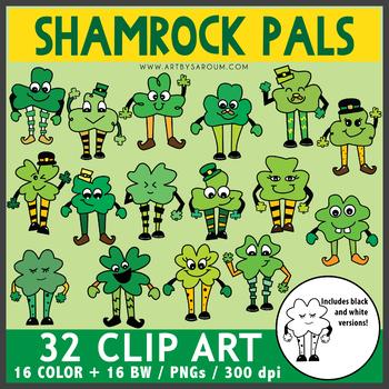 Shamrock Pals Clip Art