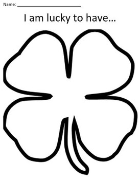Shamrock Paper - I Am Lucky To Have...