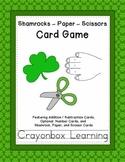 St. Patrick's Day -Shamrock, Paper, Scissors Card Game - Learning Center