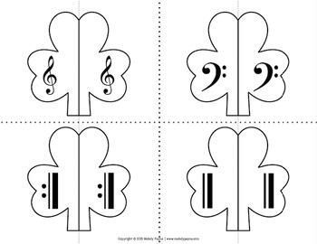 Partner Cards: Shamrock Partner Choosing Cards {Music Symbols}