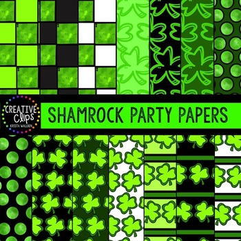 Shamrock Party Papers {Creative Clips Digital Clipart}