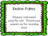 Shamrock Pencil Broken Ruler task cards