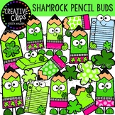 Shamrock Pencil Buds: St. Patrick's Day Clipart {Creative