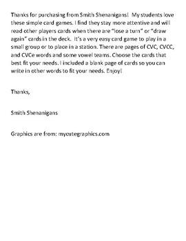 Shamrock Phonics Card Game