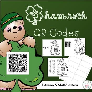 Shamrock QR Codes - 3 Centers