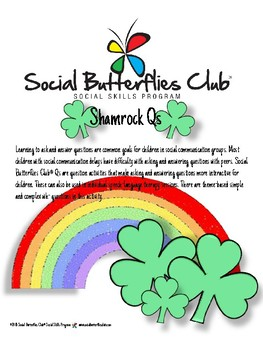 Shamrock Qs-Question Activity for Social Communication Groups