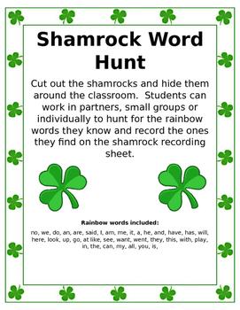 Shamrock Rainbow Word Hunt