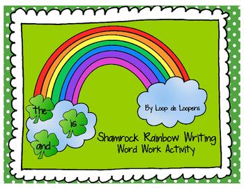 Shamrock Rainbow Writing: Word Work Activity