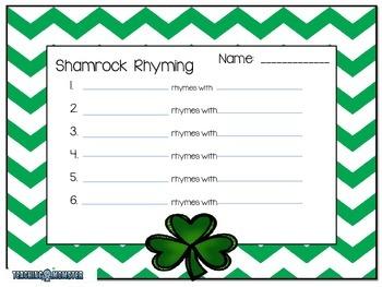 Shamrock Rhyming Words