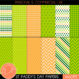 St Patrick's Day Shamrock & Roll Digital Papers