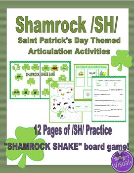 Shamrock /SH/ Articulation : Saint Patrick's Day Theme