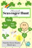 Shamrock Scavenger Hunt, St. Patricks day Christian Proverbs Printable Trinity