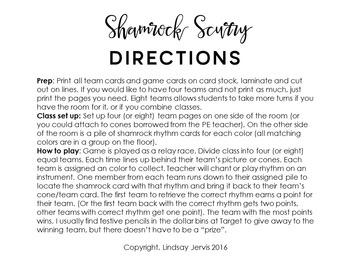 Shamrock Scurry Rhythm Races: tika-ti