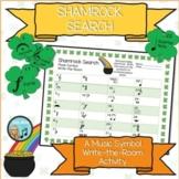 Shamrock Search - Music Rhythms Write-the-Room Activity