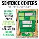 Sentence Building Centers St. Patrick's Day Shamrocks