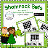 Shamrock Sets BOOM CARDS Teen Number Ten Frames