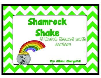 Shamrock Shake (5 March Themed math centers)