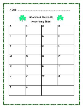 Shamrock Shake-Up Missing Numbers Activity