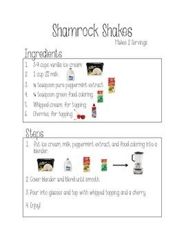 Shamrock Shakes Adapted Recipe