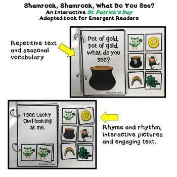 """""""Shamrock, Shamrock, What do You See?"""" An Adapted Interactive Book"""