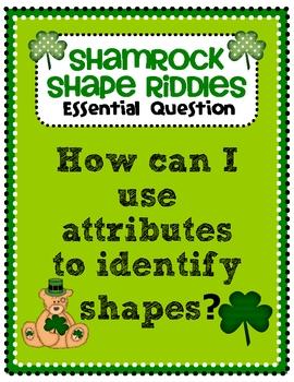 Shamrock Shape Riddles Tiered Math Tub