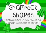 Shamrock Shapes Scoot or Task Cards (Similar and Congruent Figures)