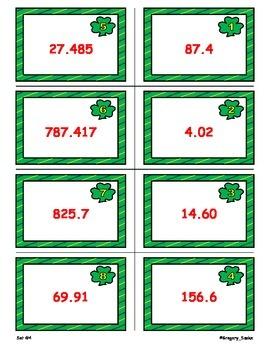 Shamrock Shenanigans Game Cards (Add & Subtract Decimals) Sets 4, 5, 6