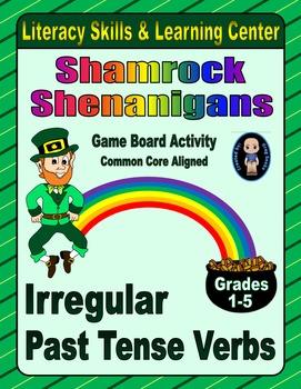 St. Patrick's Day Literacy Skills & Learning Center (Irregular Past Tense Verbs)