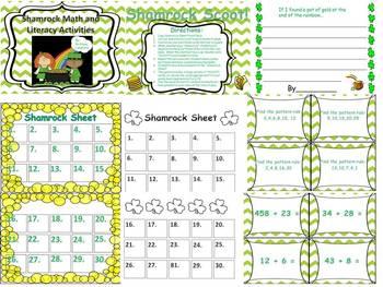 Shamrock Shennanigans! St. Patrick's Day Math and Literacy