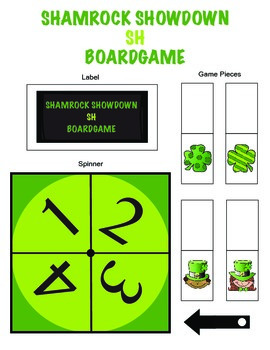Shamrock Showdown /SH/ Articulation Boardgame!