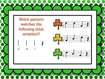 Shamrock Shuffle: Games for practicing do