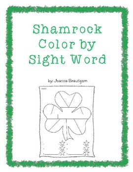 Shamrock Sight Word Freebie