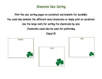 Shamrock Size Sorting
