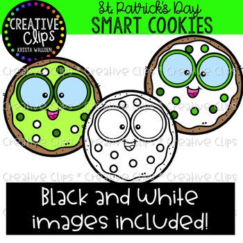 Shamrock Smart Cookies: St. Patrick's Day Clipart {Creative Clips Clipart}